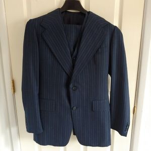 Two (2) Vintage custom tailored suits from London